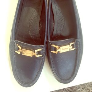 Moccasins ,size 7 very good condition ,Navy blue